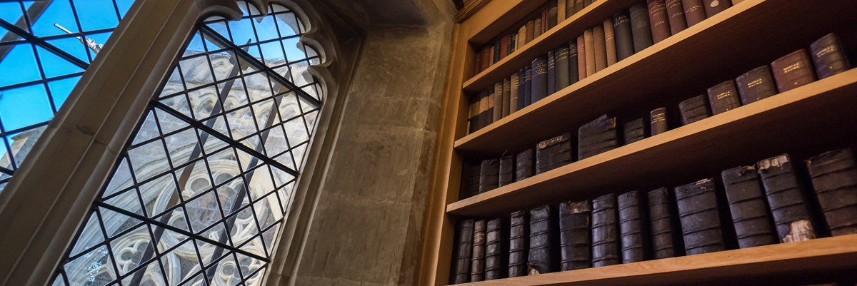 A fifteenth century library in a beautiful setting